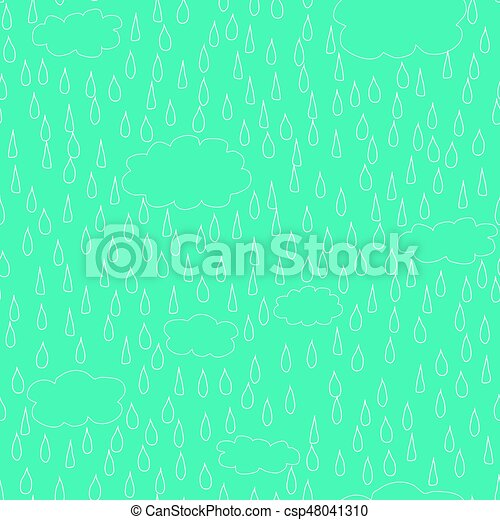 Abstract blue vector background with rain - csp48041310