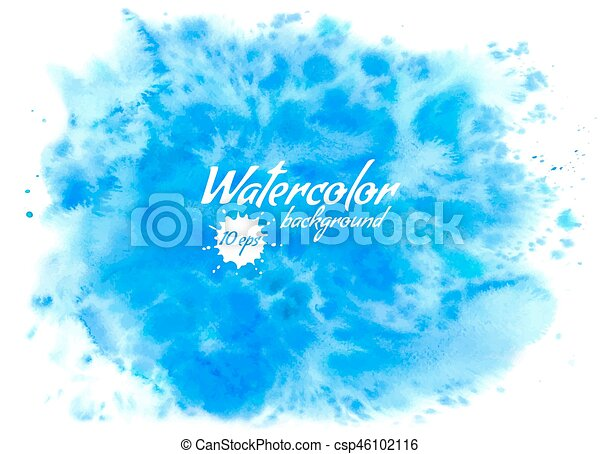 Abstract blue vector watercolor background - csp46102116