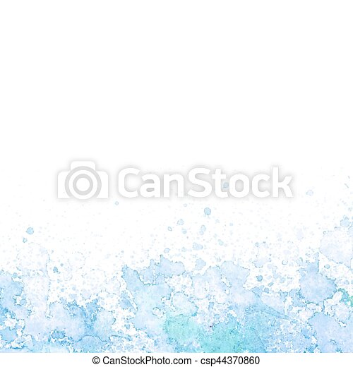 Abstract blue watercolor background - csp44370860