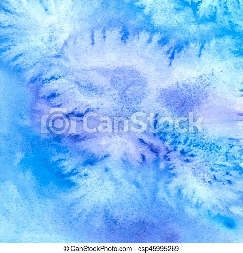 Abstract blue watercolor background - csp45995269