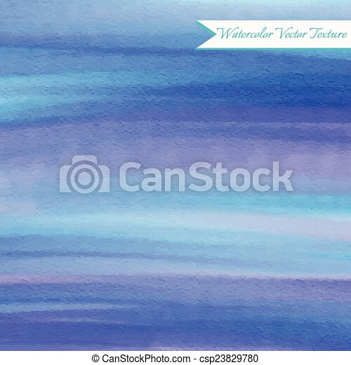 Abstract blue watercolor background - csp23829780