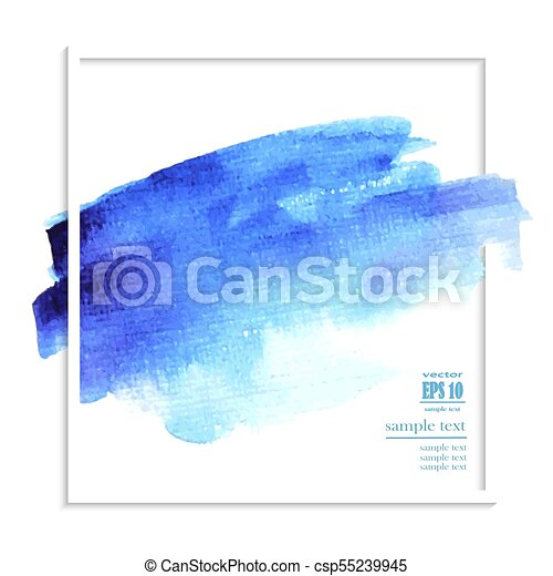 abstract blue watercolor background - csp55239945