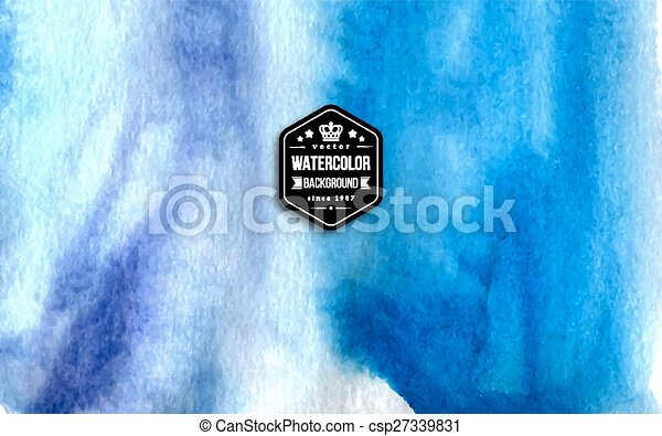 Abstract blue watercolor background.  - csp27339831
