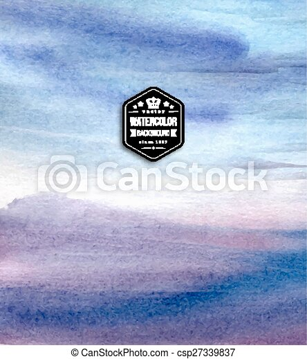 Abstract blue watercolor background.  - csp27339837