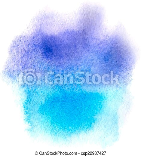 Abstract blue watercolor background - csp22937427