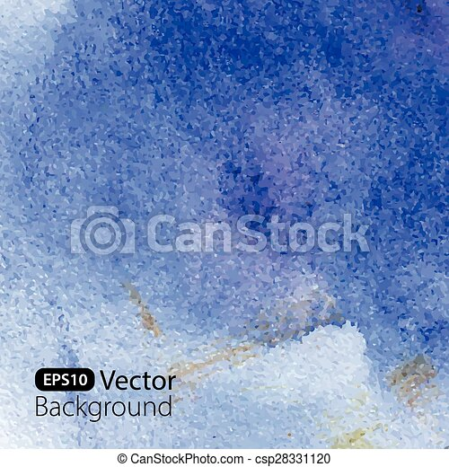 Abstract blue watercolor background. - csp28331120