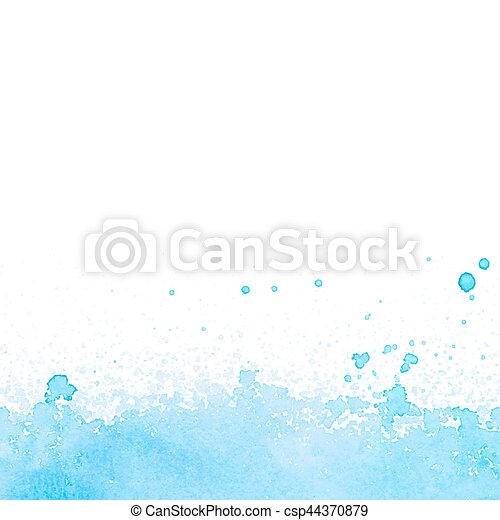 Abstract blue watercolor background - csp44370879