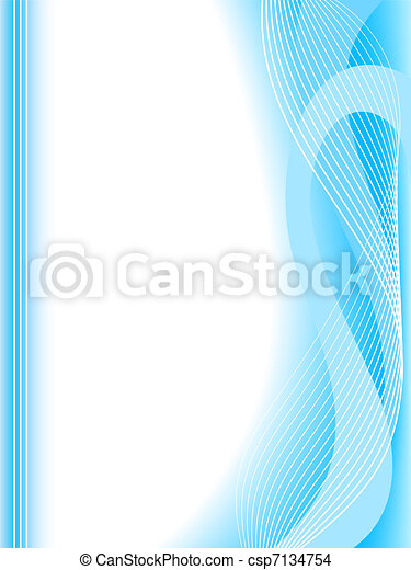 abstract blue wave background - csp7134754