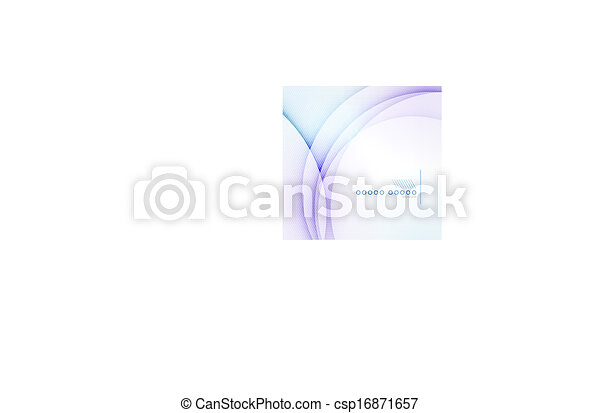 Abstract blue wave blur vector background - csp16871657