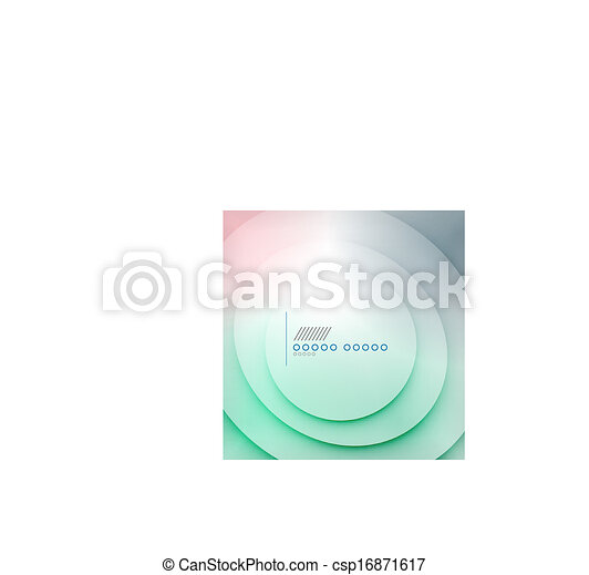 Abstract blue wave blur vector background - csp16871617