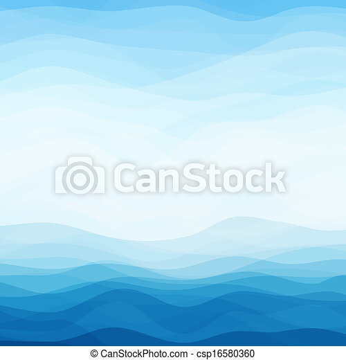 Abstract Blue Wavy Background - csp16580360