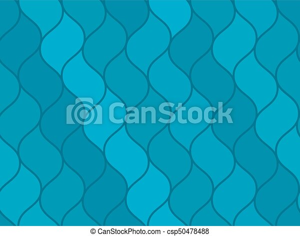 Abstract Blue Wavy Sea Seamless Pattern Marine Texture