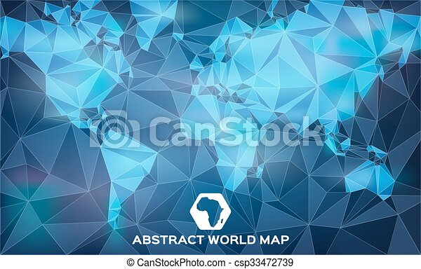 Abstract blue world map shapes abstract world map with angular abstract blue world map shapes csp33472739 gumiabroncs Images