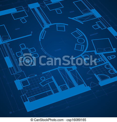 Abstract blueprint background - csp16089165
