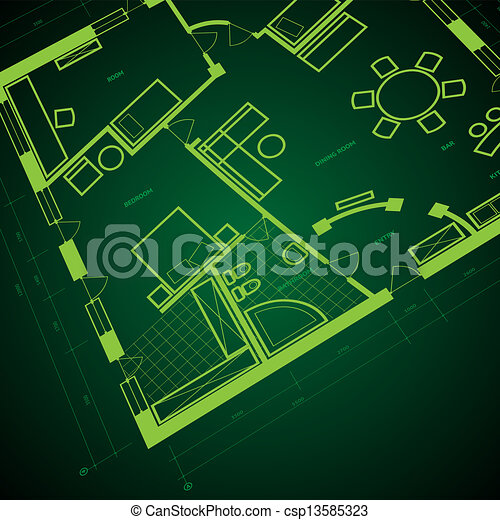 Abstract blueprint background in green colors vector vector abstract blueprint background csp13585323 malvernweather Choice Image