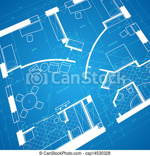 Abstract blueprint background in blue and white colors vector abstract blueprint background csp14530328 malvernweather Choice Image
