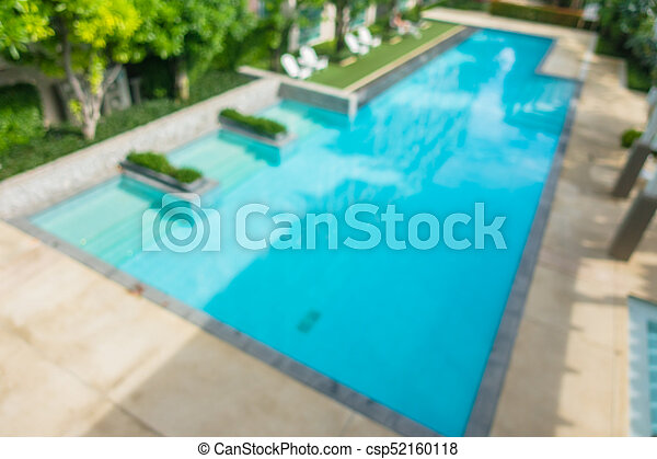 Abstract blur and defocus swimming pool - csp52160118