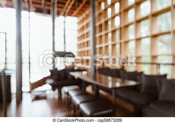 abstract blur and defocused in cafe and restaurant for background - csp58873289