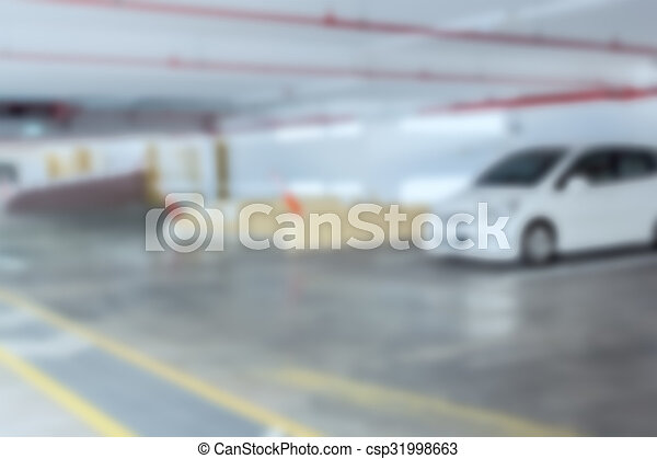 Abstract blur background of car parking, shallow depth of focus - csp31998663