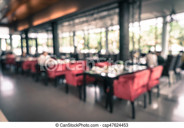 abstract blur catering buffet food in restaurant