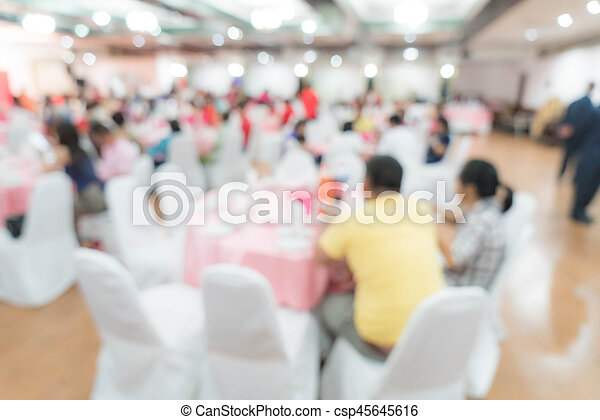 abstract blur in restaurant - csp45645616