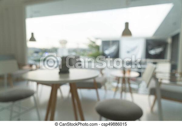 abstract blur in restaurant - csp49886015