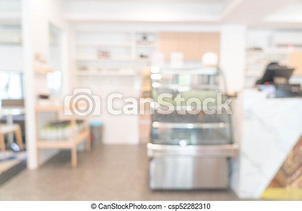 abstract blur in restaurant - csp52282310