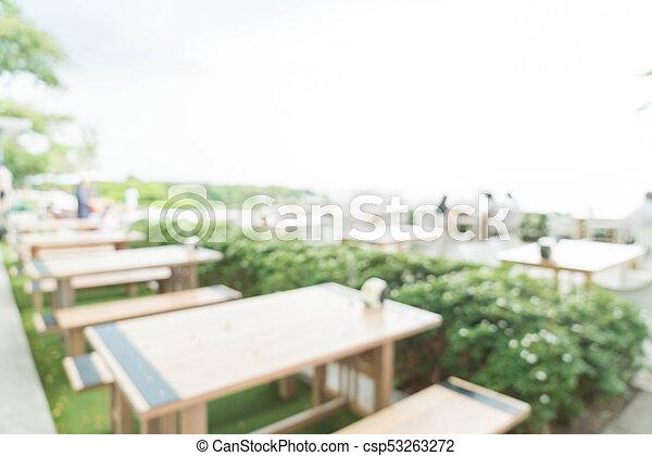 abstract blur in restaurant - csp53263272