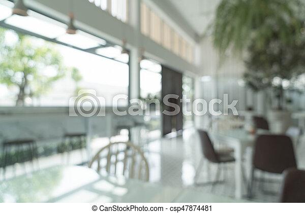 abstract blur in restaurant - csp47874481