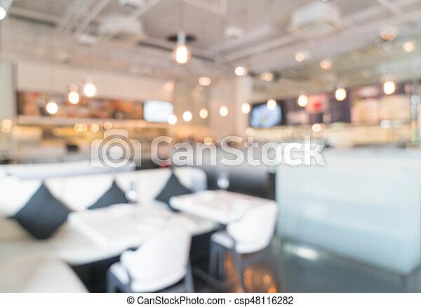 abstract blur in restaurant - csp48116282