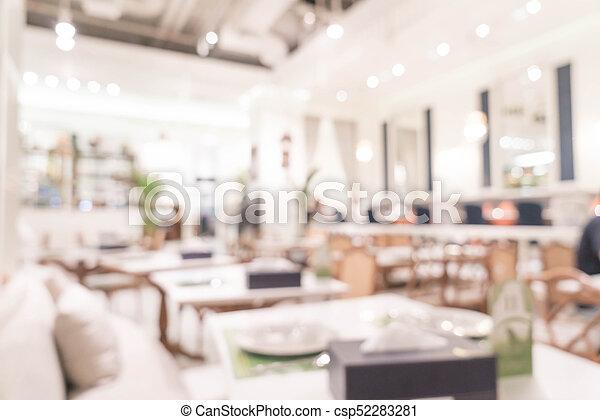 abstract blur in restaurant - csp52283281