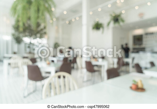 abstract blur in restaurant - csp47995062