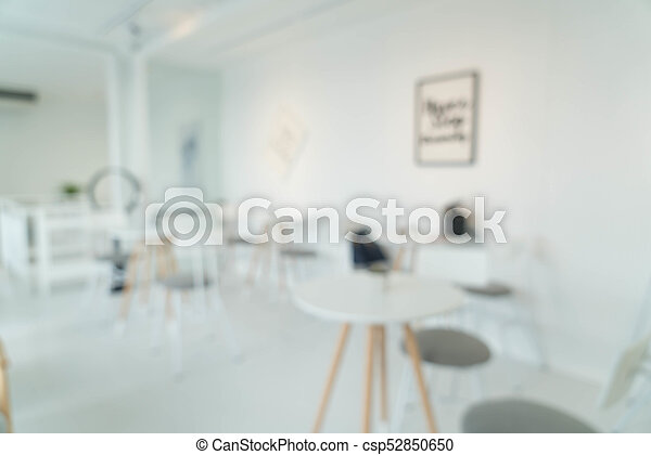 abstract blur in restaurant - csp52850650