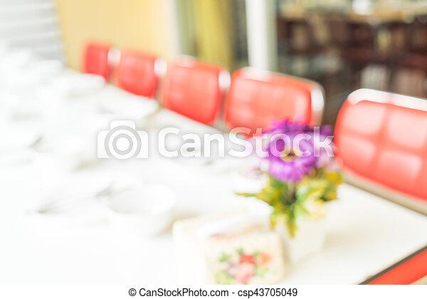 abstract blur in restaurant - csp43705049