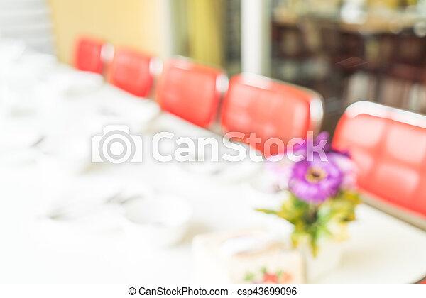 abstract blur in restaurant - csp43699096