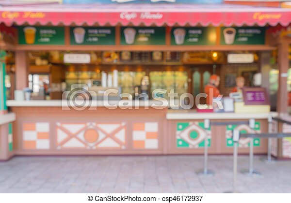 abstract blur in restaurant - csp46172937