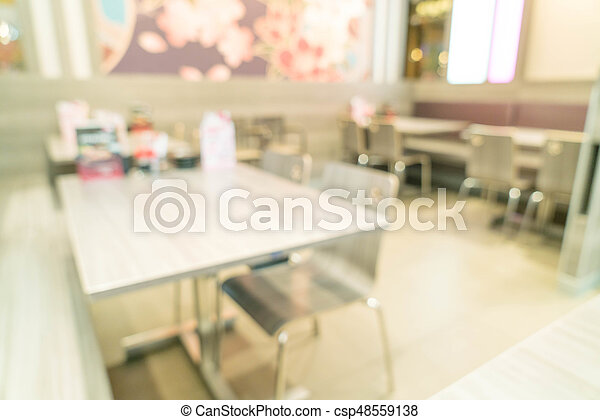 abstract blur in restaurant - csp48559138