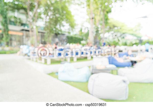 abstract blur in restaurant - csp50319631