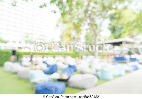 abstract blur in restaurant - csp50452432