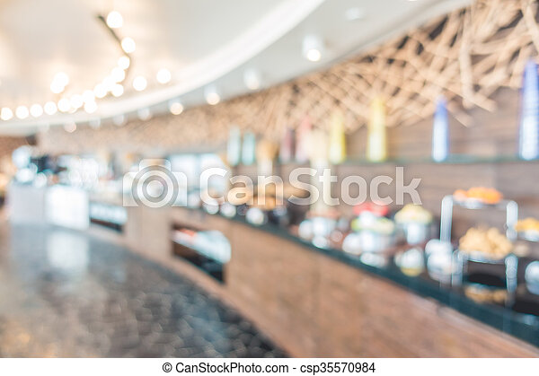 Abstract blur restaurant - csp35570984