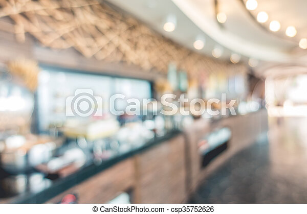 Abstract blur restaurant - csp35752626