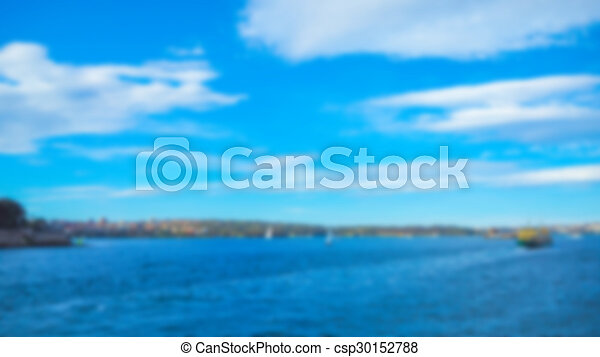 Abstract blur sea background - csp30152788