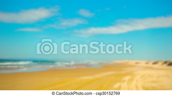 Abstract blur sea background - csp30152769
