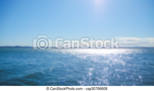 Abstract blur sea background - csp30766608