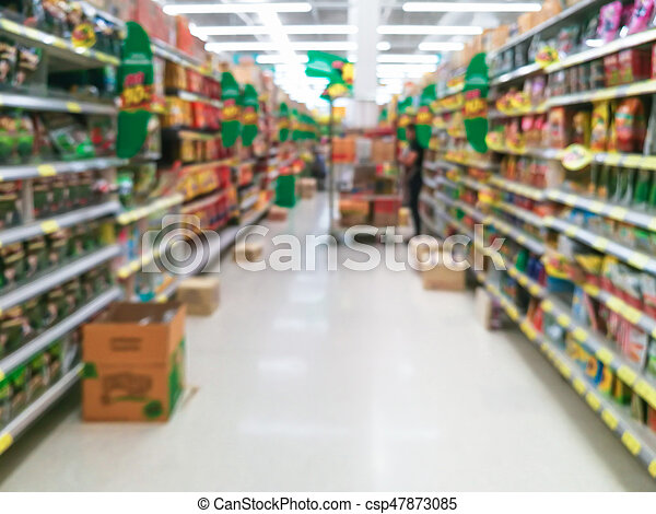 Abstract blur supermarket for background - csp47873085