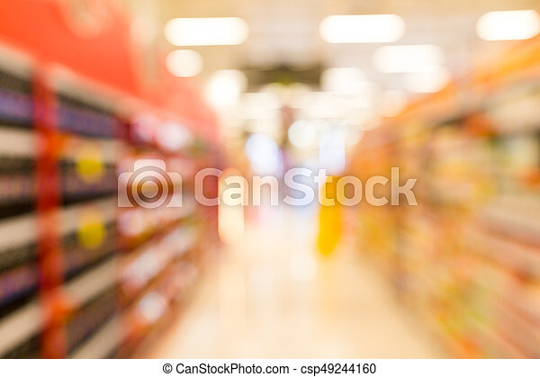 Abstract blur supermarket in department store - csp49244160