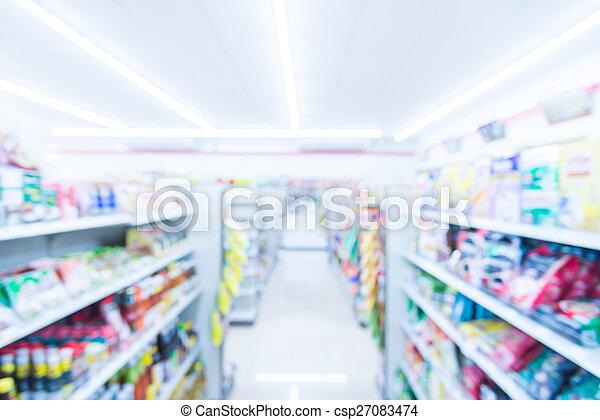 Abstract blur supermarket - csp27083474