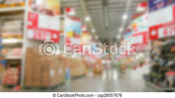 Abstract blur supermarket - csp28057676