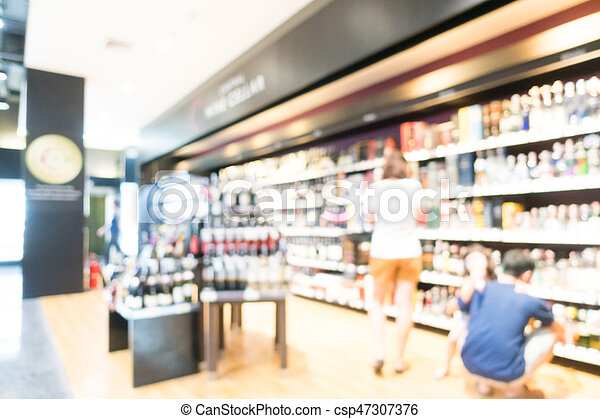 Abstract blur supermarket - csp47307376