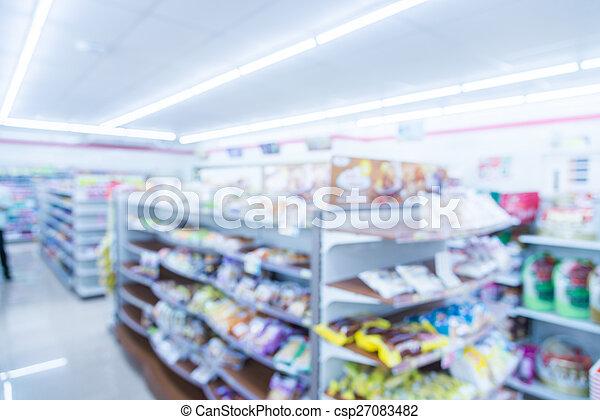 Abstract blur supermarket - csp27083482